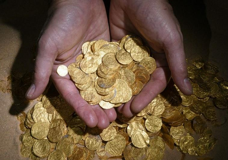 Gold Coins in Ancient Port